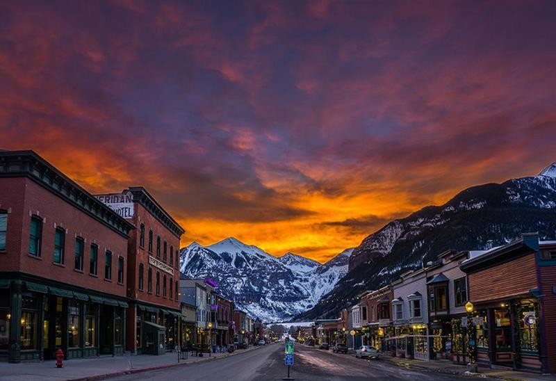 Telluride Sunset Winter